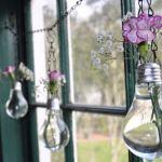 reciclar bombillas para decorar