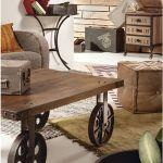 mesas vintage con ruedas de carro 7
