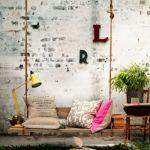 Muebles con palets: ¡un columpio en el patio!