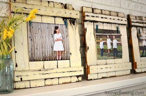 Marcos de fotos rustico chic para decorar