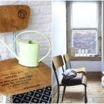 Viejas sillas de colegio para decorar 6