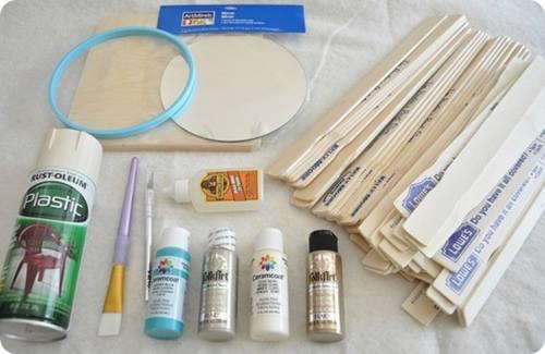 tutorial DIY espejo sol vintage estilo años 60 c