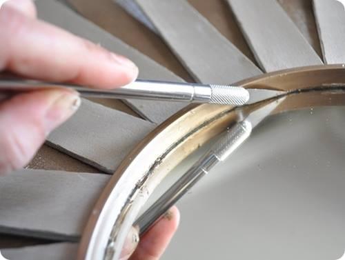 tutorial DIY espejo sol vintage estilo años 60 f