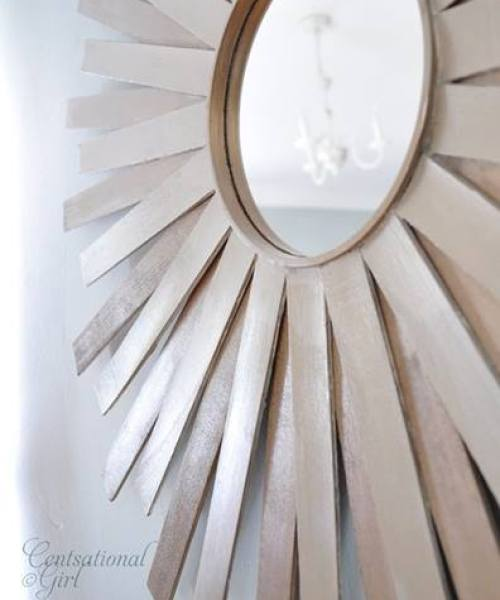 tutorial DIY espejo sol vintage estilo años 60 g