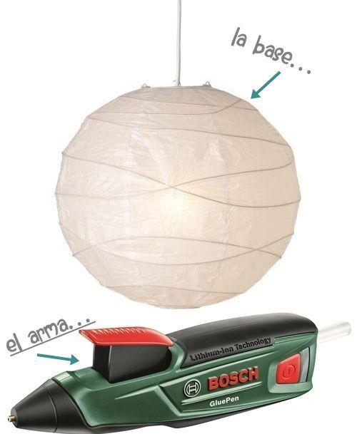 Cómo hacer lámparas con objetos desechables 11