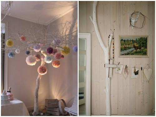 Ideas para decorar con ramas secas  Decomanitas