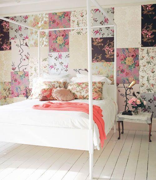 ideas patchwork para paredes vintage 11
