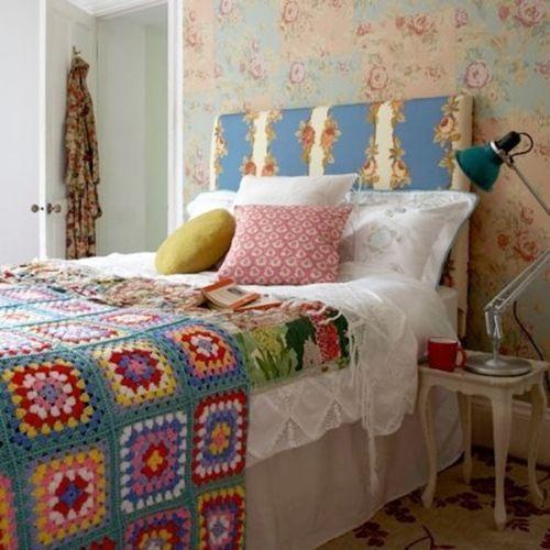 ideas patchwork para paredes vintage 8
