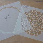 paredes con flores con stencil o estarcido 1