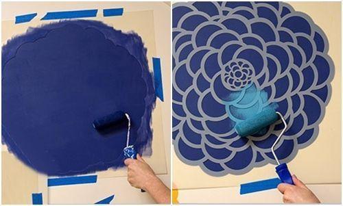 plantillas para pintar paredes con flores 2