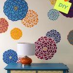 Plantillas para pintar paredes con flores
