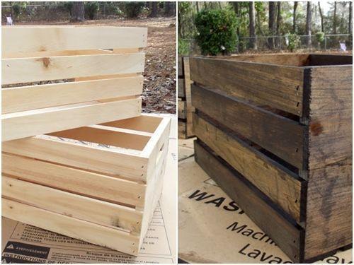 Ideas de decoracion con cajas de madera para fruta decomanitas - Cajas de madera para frutas ...