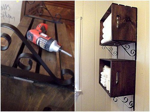 Ideas de decoracion con cajas de madera para fruta 5