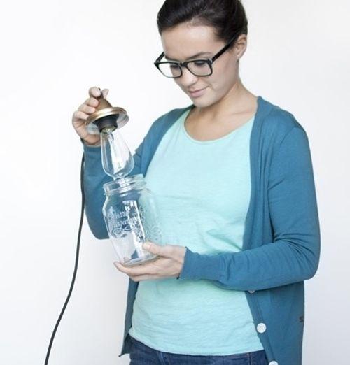 Ideas para decorar con tarros de vidrio lamparas DIY 4