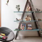 Reciclar para decorar: viejas escaleras de madera recuperadas