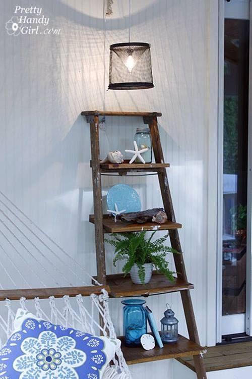 Reciclar para decorar viejas escaleras de madera for Escalera madera decoracion