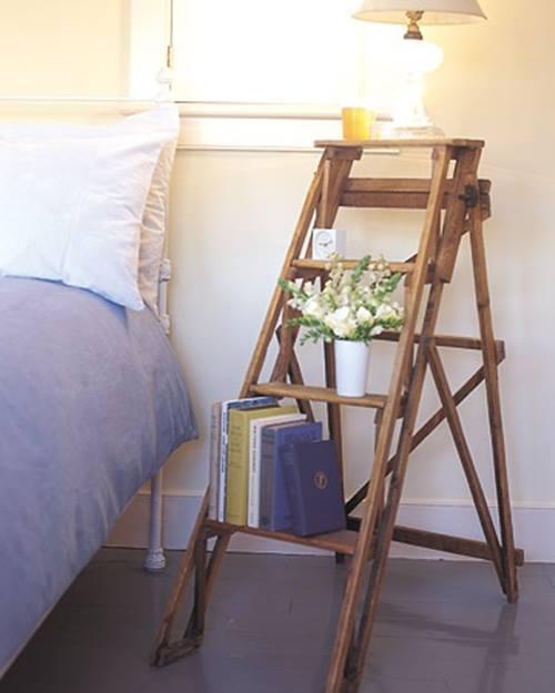 Reciclar para decorar viejas escaleras de madera recuperadas 6