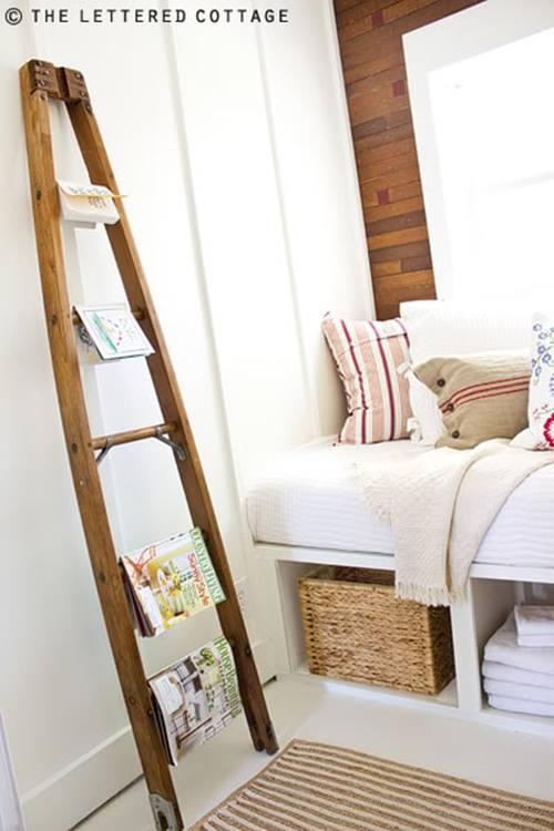 Reciclar para decorar viejas escaleras de madera recuperadas 7