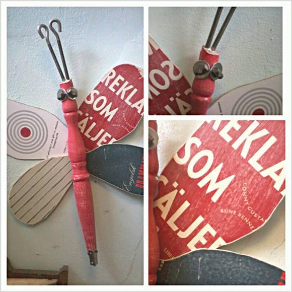 Reciclar y decorar mariposas y libélulas vintage en tus paredes... 2