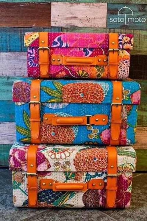 ideas para decorar con maletas antiguas 2