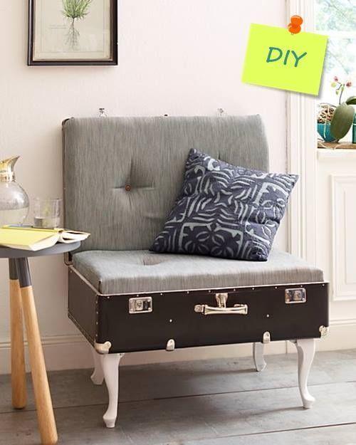 Maletas antiguas para decoraci n de interiores y reciclaje - Decoracion reciclaje muebles ...