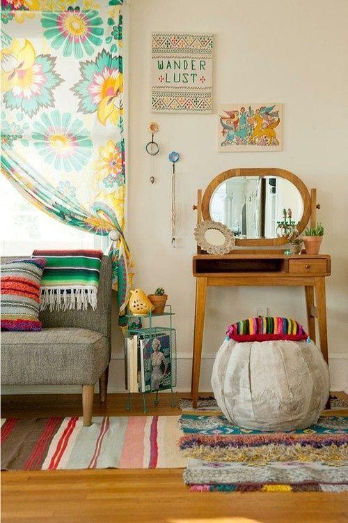 Una decoración vintage sencilla y acogedora