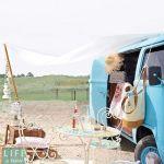 Vacaciones sugerentes ¡casa de verano con la vieja VW campervan! 1