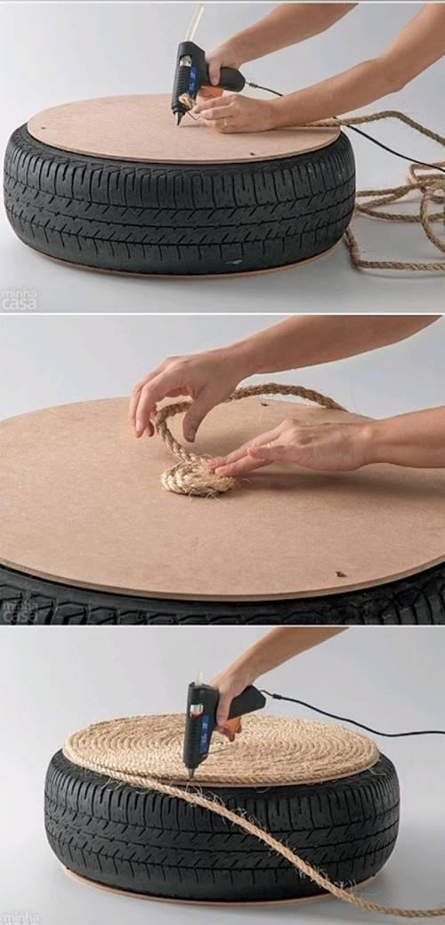 ☼ Qué hacer con un viejo neumático ¡ideas para reciclar decorando! ☼ 2