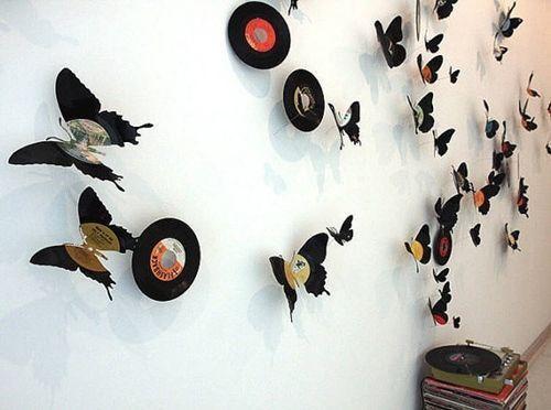 Ideas para decorar con viejos discos de vinilo 1