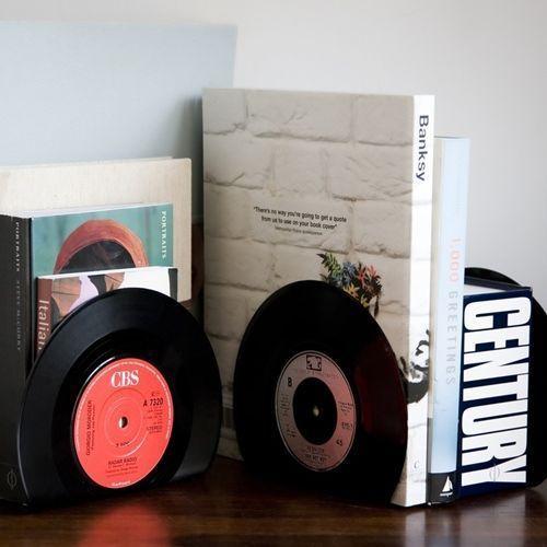 Ideas para decorar con viejos discos de vinilo 3