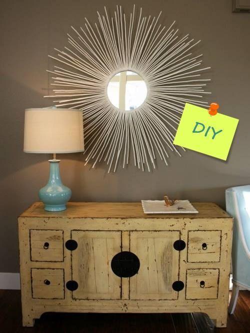 Manualidades para decorar cómo hacer un espejo de sol vintage 1