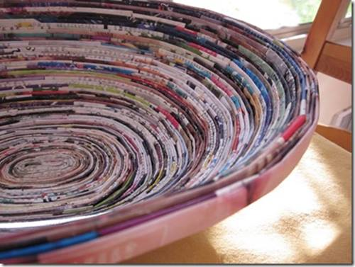 ideas de decoracion para reciclar viejas revistas 1