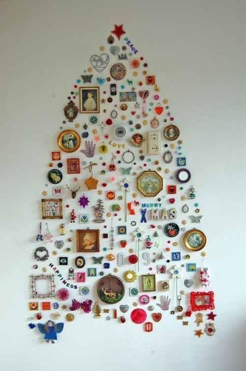 como hacer un arbol de navidad original y alternativo 9