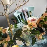 Arreglos de Navidad con flor de Pascua de estilo vintage