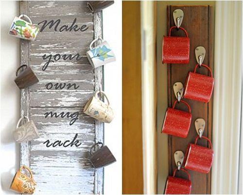 Ideas de decoraci n para colgar tazas mug en la cocina decomanitas - Objetos decoracion cocina ...