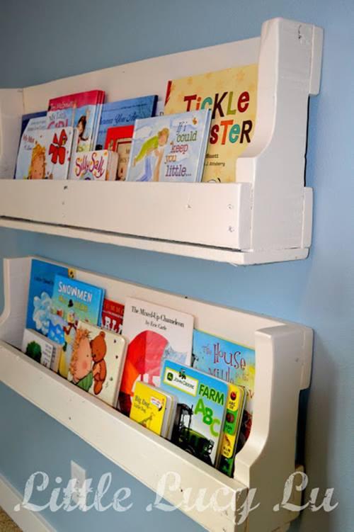 Repisas modernas para libros en habitaciones para ni os - Libros para relajarse ...