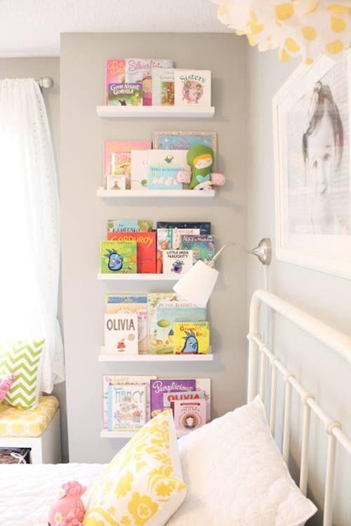 repisas modernas para libros en habitaciones para ni os
