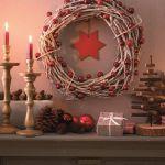 manualidades para decorar corona de Navidad con ramas secas 1