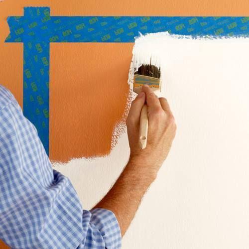 Cómo hacer un cabecero de cama original con pintura de pared 2