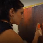 Cómo pintar mi casa con pinturas decorativas I pintura efecto óxido 7