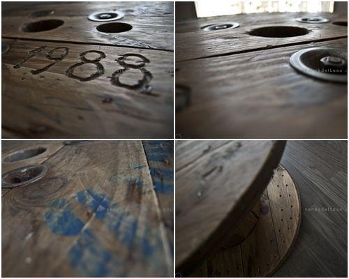 Mesas de bobinas de cable... ¡Las mesas recicladas más originales! 4