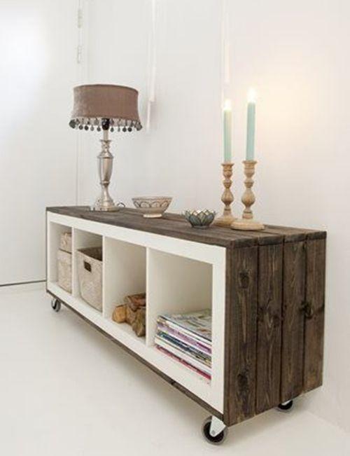 Cmo transformar muebles Ikea tunear estanteras Ikea Expedit con palets  Decomanitas