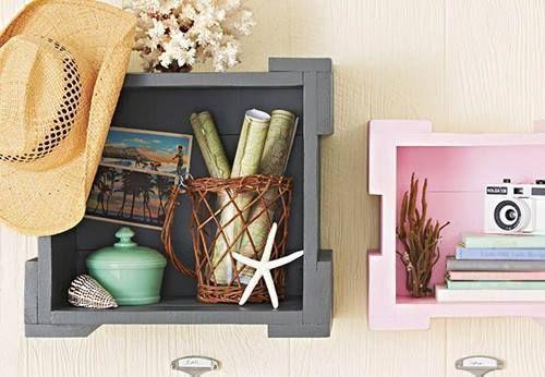 Nuevas ideas para pintar cajas de madera (y reutilizarlas para decorar la casa) 3