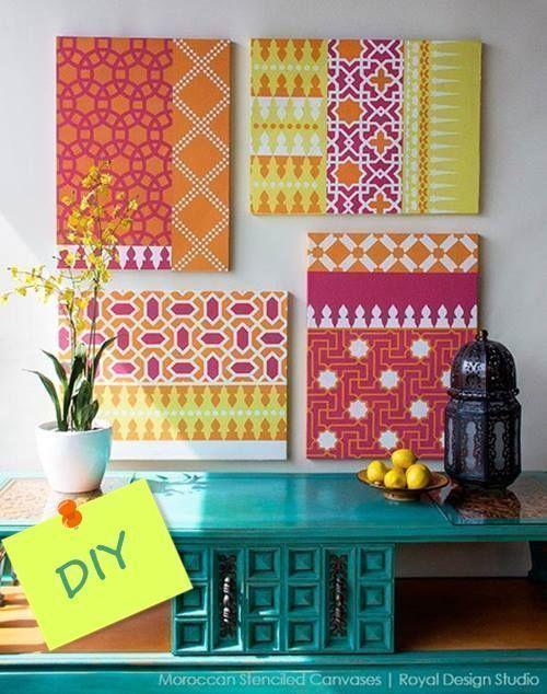 Decorar mi casa con plantillas para pintar estilo marroqu decomanitas - Casas marroquies ...