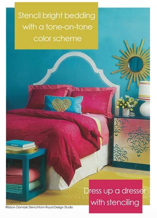 como decorar mi casa con stencil de motivos geometricos de estilo marroqui 5