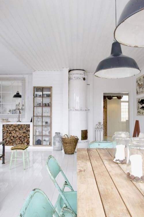Últimas tendencias en decoración comedores vintage con sillas mix and match 8