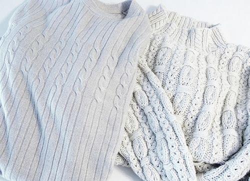 Cómo hacer cojines de punto con viejos jerseys 2