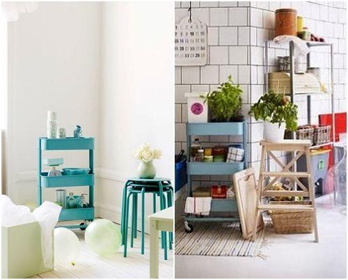 Cómo transformar camareras de cocina Ikea Rastog en muebles de almacenaje 6