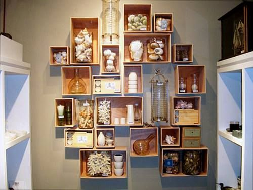 Cajas de madera para fruta para hacer estanterías de pared 5