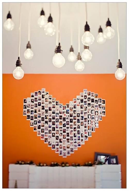 Decorar con fotos, ¡y dar vida a las paredes con un corazón! 4